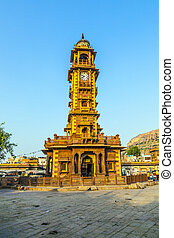 Jodhpur clocktower - golden jodhpur clocktower in early...
