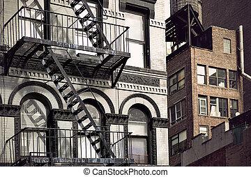 Metal fire escape