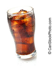 Cola glass Isolated on white background