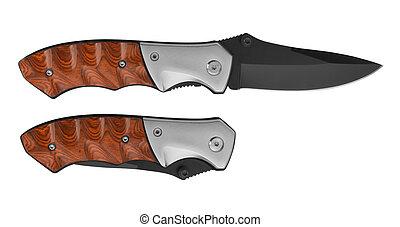 Pocket Knife isolated on white background
