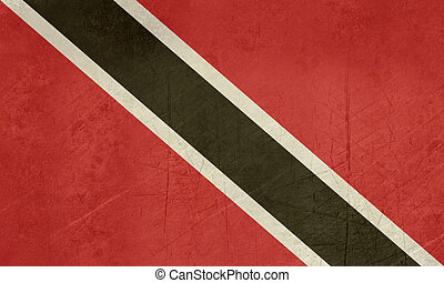 Grunge Trinidad and Tobago flag - Grunge Sovereign state...