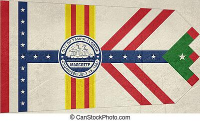 Grunge Tampa city flag