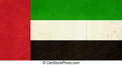 Grunge United Arab Emirates flag