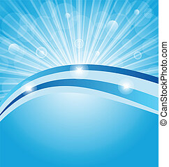 Business card show light rays - Illustration business card...