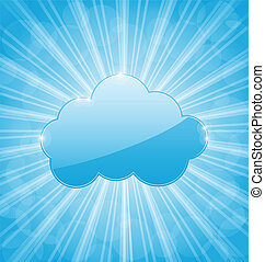 Abstract background with cloud and show light rays -...