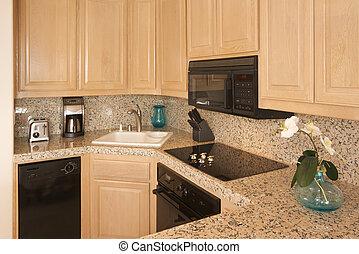 modernos, cozinha, Interior