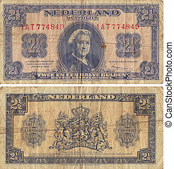 Netherland Two and One Half Gulden