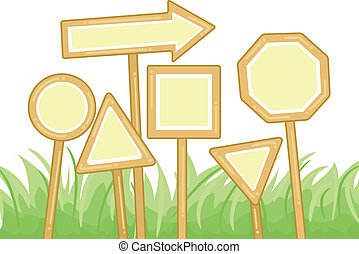 Blank Signs - Illustration of Blank Signs in Different...