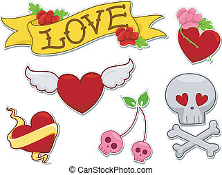 Love Tattoo Sticker