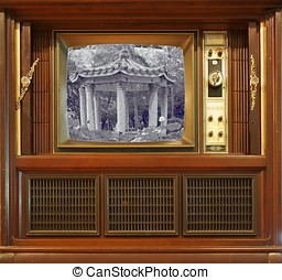 Old Retro Style Television - A vintage television set from...