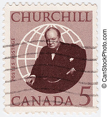 CANADA - CIRCA 1965: stamp printed in Canada shows Winston...