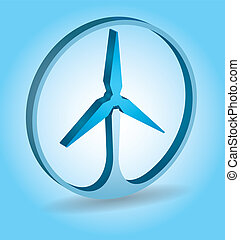 Ecology concept - wind energy - Ecology concept abstract...