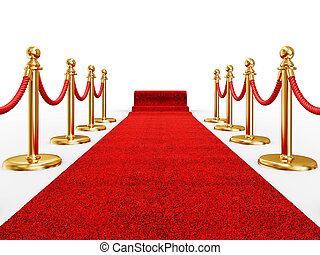 red ivent carpet - red event carpet isolated on a white...