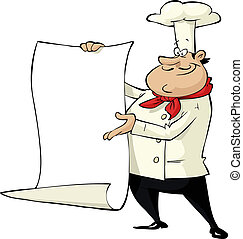Cartoon cook - Cook on a white background vector...