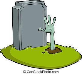 卡通, 墳墓
