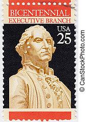 unido, estados, -, hacia, 1977, :, bicentenario, Franqueo,...
