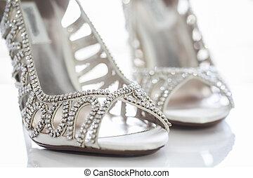 Diamond shoes - A unique pair of diamond shoes for the bride...