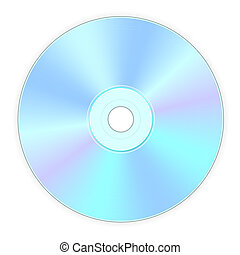 compact disk - illustration of back side of compact disk
