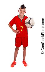 Young soccer boy