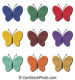 scrapbook butterflies on white background