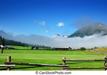 Mountain Golf - Zuoz, Engadina Switzerland - Golf at high...