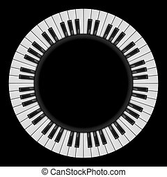 Piano keys. Abstract illustration, for creative design on...