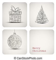 Vector christmas decoration card - Simple vector christmas...