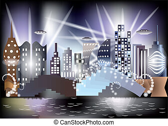 city of the future - nonexistent fantastic city of the...