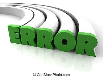 error - render of the text error
