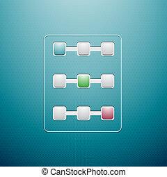 Progress controls. Vector UI objects
