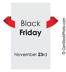 black friday sale tag with special design