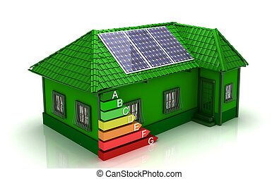 house energy saving concept isolated