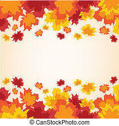 Colorful background from autumn sheet