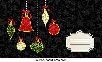 cartão, Natal, modelo, Saudação