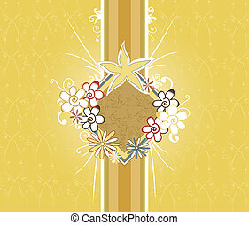 floral - abstract floral design in earthtones