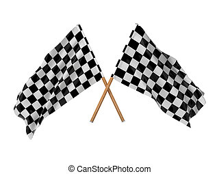 Checkered Flags Two Crossed Flags - Checkered FlagsRacing...