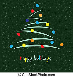 Happy holidays - Universal card for the holiday season...