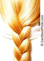 carrots hair plaits - long foxy braid of thick hair