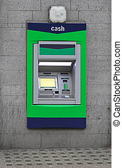 Atm cash machine - Automated teller machine cashpoint hole...