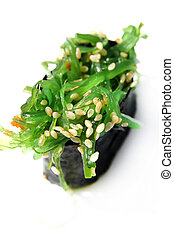 Sushi Kaiso , Seagrass chuka on white background