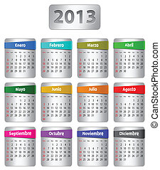 Spanish calendar for 2013 - Calendar for 2013 year in...