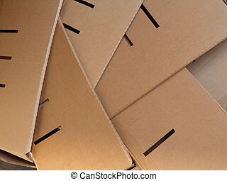 Corrugated cardboard - Brown corrugated cardboard sheet...