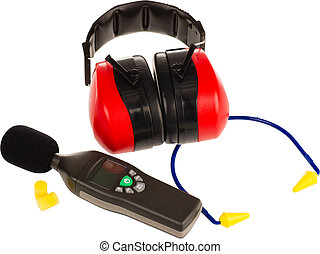 ear protection gear - objects to protect from deafness on a...