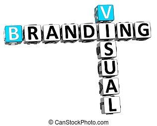 3D Visual Branding Crossword on white background