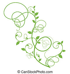 simple green vector floral design - simple floral design,...