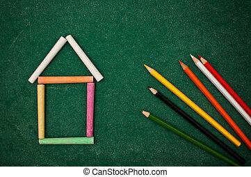Return to school - Back to school, handwritten letters on a...