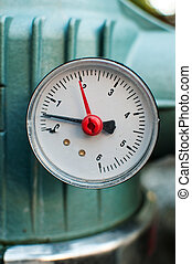 Pressure gauge, measuring instrument close up image