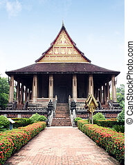 Wat Haw Pha Kaew, a buddhist temple in Vientiane, Laos