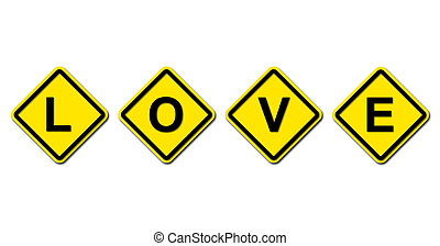 love sign on white background