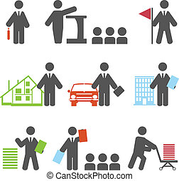 Business icons. Vector set